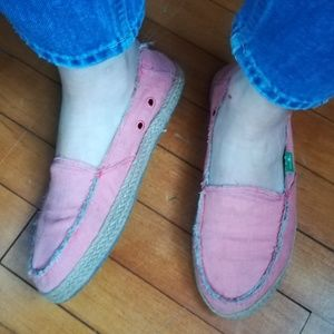 Pink Canvas Beach Shoes